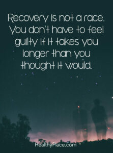 you dont have to feel guilty if it takes you longer than you thought it would