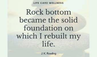 rock bottom addiction quote jk rowling